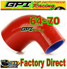 """GPI 2.5""""-2.75"""" 64 - 70mm Silicone 90 Degree Elbow Reducer Pipe Hose INTERCOOLER"""