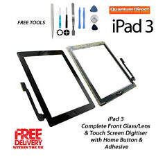 NEW Complete Front Glass/Digitiser Touch Screen/Panel Assembly FOR iPad 3 BLACK