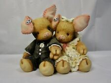 """1994 Enesco This Little Piggy """" To Hog & To Hold """" Figure In Box"""