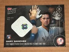 2016 Topps Now Game Used Base Relic 4/99 388-B Gary Sanchez RC Rookie Yankees