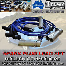 VN VP VR VS VT VX VY  IGNITION LEADS 8MM SUIT HOLDEN COMMODORE 6cyl 3.8L V6