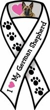"""I LOVE MY GERMAN SHEPHERD!"" Car Ribbon Magnet  QUALITY"