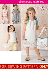 SEWING PATTERN! MAKE PILLOWCASE DRESS~TOTE~TOP~PANTS! CHILD CLOTHES SIZES 3~8!