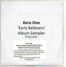 (982D) Kero One, Early Believers sampler - DJ CD