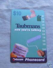 TAUBMANS PAINT  $10  AUSTRALIAN PHONECARD