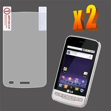 2X Clear LCD Screen Protector for LG Optimus M MS690