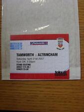 21/04/2007 Ticket: Tamworth v Altrincham