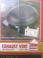 NIB: Home Roof-Mount 1500-CFM ATTIC FAN w/ Thermostat & Humidistat (Weatherwood)