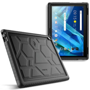 For Lenovo Moto Tab (X704A) Tablet Case Silicone Grip&Drop Protector Cover Black