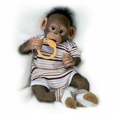 Zeke Baby Monkey Doll with Pacifier by Ashton Drake New NRFB