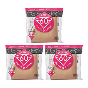 Hario V60 Misarashi Coffee Paper Filters Size 02 Natural 300 Pack