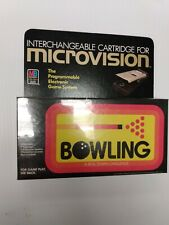 BOWING Milton Bradley Microvision Video Game Caridge NOS SEALED 1979
