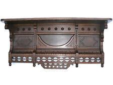 Victorian Eastlake Walnut Shelf Ornate
