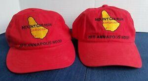 Lot of 2 Mount Gay Rum Barbados 2011 Annapolis Nood Sailing Race Hat / Cap