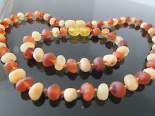 Genuine Baltic Amber Bracelet/Anklet or Necklace, Beads Knotted sizes 14-18 cm