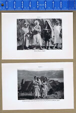 Local Peoples, Music & Culture of  Bassour Algeria -1934 Smithsonian Print