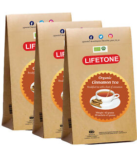 Ceylon Cinnamon Tea, Organic Certified UK, Detox teabags