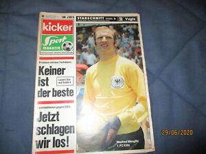 Kicker 13.7.1970 56/70 Manfred Manglitz 1. FC Köln