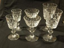 Hawkes Crystal TALLY HO 7334 6pc Lot Water/Wine/Champagne signed