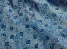 5 YARDS OF VINTAGE ZIPPITY ZOO DA KIDS STUFF TURQUOISE ABSTRACT PRINT FABRIC