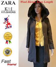 Zara Wool Blend Zip Patternless Coats & Jackets for Women