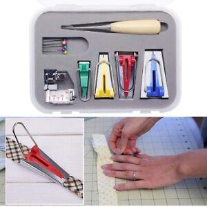 Aonokey Fabric Bias Tape Maker Sewing Accessories Splicing Cloth Tool Quilting Overlocking Stitch Presser Foot Craft DIY 5PCS