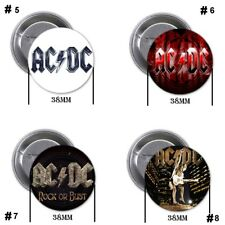 AC/DC, AC DC, rock, metal, A - 4 chapas, pin, badge, button