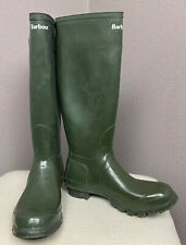 Barbour Green Tall Wellies Rain Boots EU 40/41 UK 7 US Men 8 Ladies 9