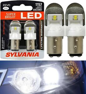 Sylvania ZEVO LED Light 1157 White 6000K Two Bulbs Front Turn Signal Lamp OE Fit