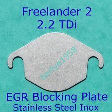 EGR VALVE Blanking Plate 2.2L Freelander 2 Evoque TD4 SD4 eD4 Stainless