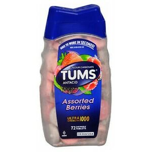 Tums Ultra Strength 1000 Chewable Assorted Berries 72 t