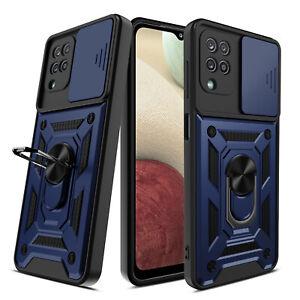 For Samsung Galaxy A02S A12 A32 A42 A52 A72 5G Ring Holder Case/Screen Protector