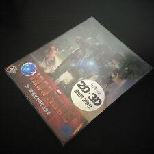 New Iron Man 3 3D + 2D Blu-ray Steelbook™ Korea Type A VHTF