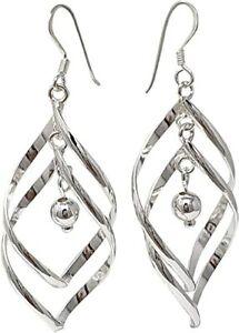 Women's Classic 925 Sterling Silver Dangle Drop Earrings For Women