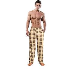 Mens Boys Designer Pyjama bottoms cotton pjs lounge pants Tartan Check Nightwear