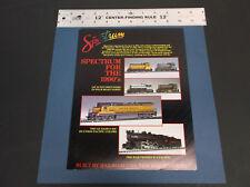 1990s SPECTRUM MODEL TRAIN BROCHURE GE 70 TON  GE DASH 8-40C  PENN K-4 *VG-COND*