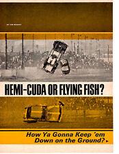 1965 HEMI-CUDA / McEWEN ~ ORIGINAL 5-PAGE ARTICLE / AD