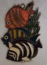 Colorful Fish Suncatcher Metal Acrylic Pink,Blue,Yellow,Purple,W hite,Green