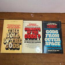 Erich Von Daniken Lot of 3 Books Gold Of Chariots Of The Gods Space Alien UFO