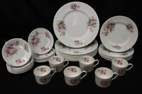 35 Pc Coalport Bone China JUNETIME w/Smooth Rim, Service for 8, England (150)