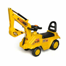 Ride on Car Construction Bulldozer Digger My First Ride On Push Car Workemen Toy