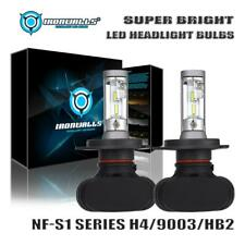 Pair HB2 H4 9003 HS1 Car Motorcycle CSP LED Headlight Kit Bulb Hi&Lo Beam 6500K