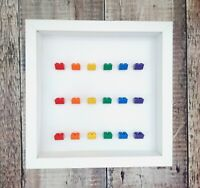 Rainbow Brick Display Frame for LEGO Minifigures | Minifig Display Case