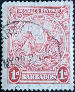 Stamp Barbados SG231 1925 1d Colonial Seal Used