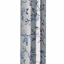 hellblau blumen faltbar gehstock mit silikon glow tragegriff & spitze