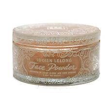 """Vintage 1930/40s LUCIEN LELONG Glass White Enamel Powder Box Full 3-1/2"""" x 2"""""""