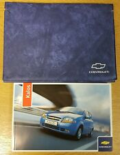 GENUINE CHEVROLET KALOS AVEO HANDBOOK OWNERS MANUAL WALLET 2005-2007 # G-986
