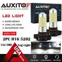 AUXITO 2X 5202 H16 Fog light Daytime Running Light driving Bulb LED 6000K White