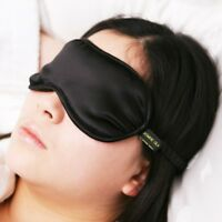 Jasmine Silk Pure Silk Filled Sleep Eye Mask Sleeping blindfold Black