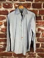 $595 Armani Collezioni M 15 Napoli Italy Designer Label Luxury Dress Shirt